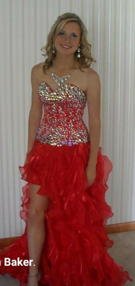 Red Party Time Formals Dresses
